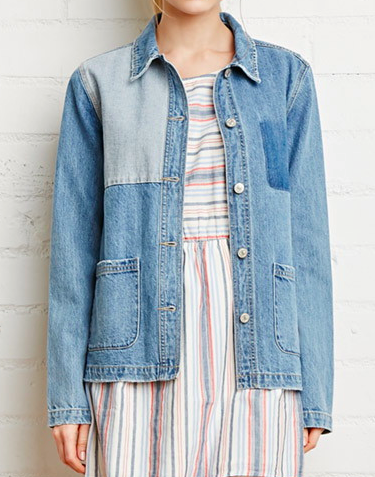 Forever 21 patch denim jacket