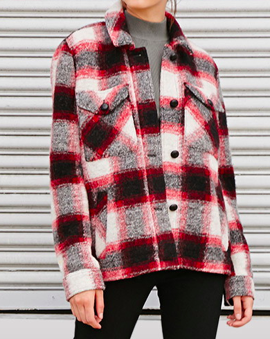 Forever 21 plaid shirt jacket