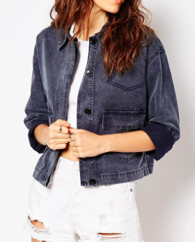 Asos short boxy jacket