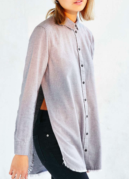 Urban Outfitters side slit flannel shirt