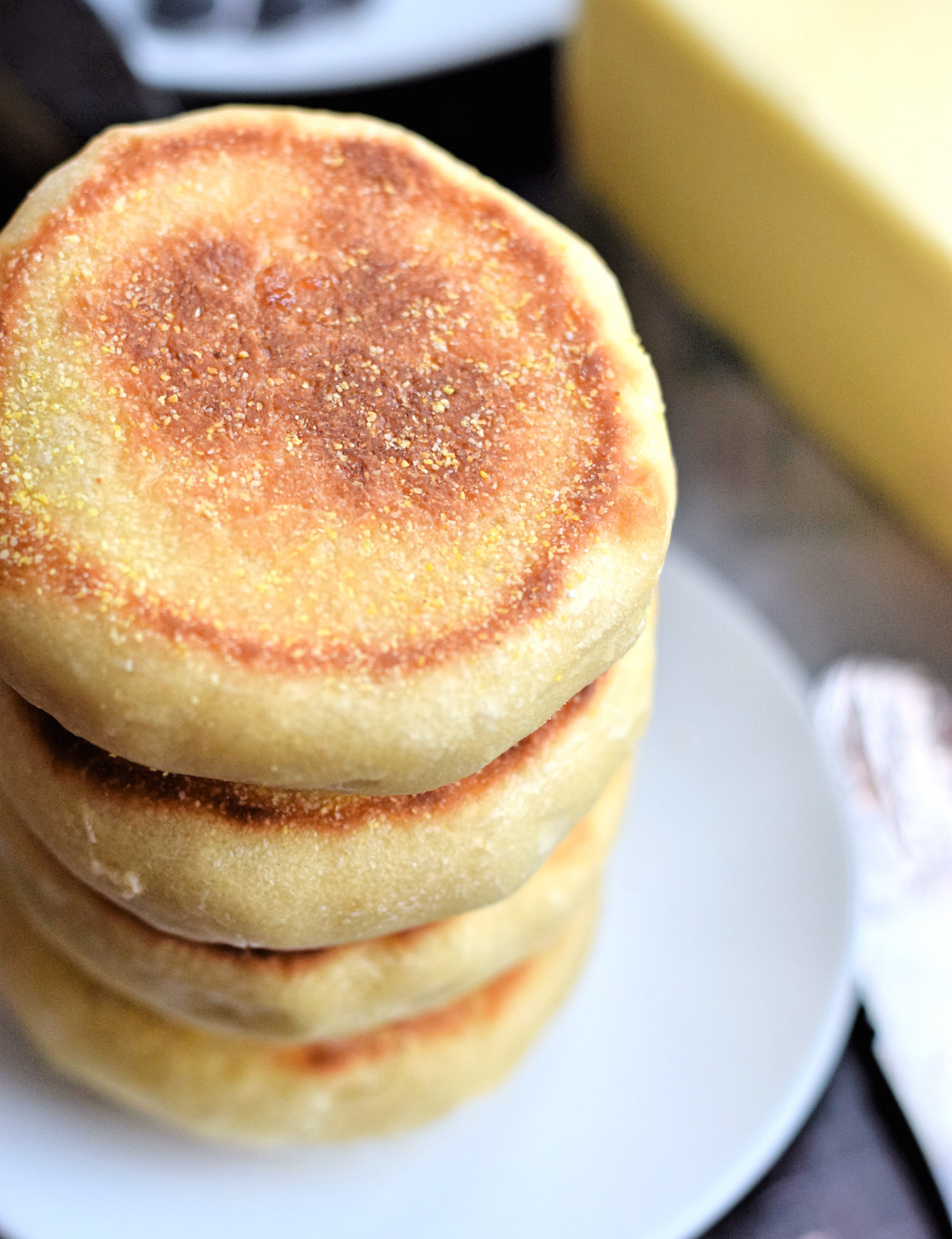 Quick and Soft English Muffins - soft, fluffy english muffins with only an hour or so of rising time. Better than any store-bought versions! | trufflesandtrends.com