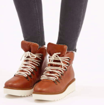 Topshop lace up hiker boots