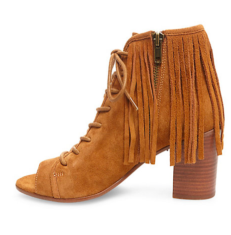 Steve Madden fringe lace up booties