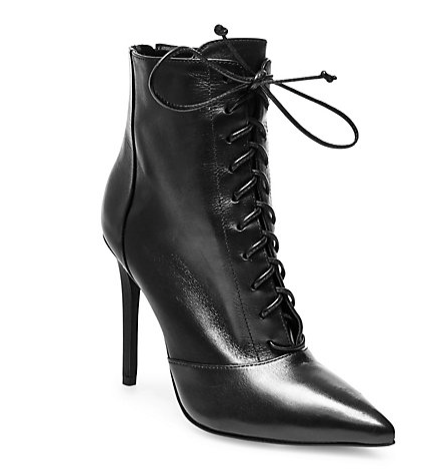 Steve Madden pointed toe lace up booties