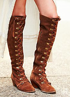 Free People suede lace up boots