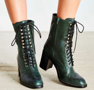 Urban Outfitters midi lace up boots