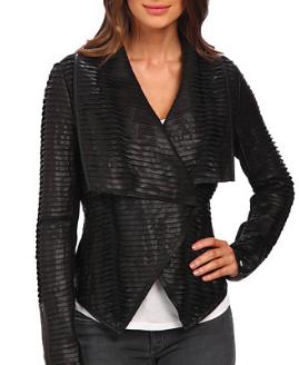 Blank NYC draped vegan leather jacket