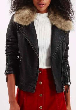 Topshop vegan leather jacket