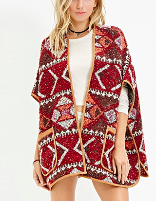Forever 21 Geo poncho