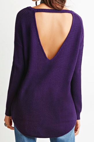 Forever 21 open back knit sweater