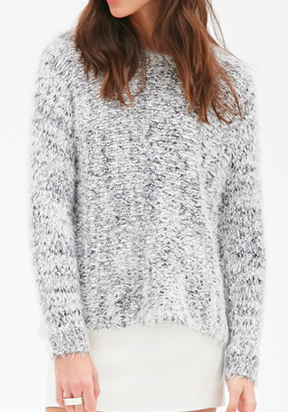 Forever 21 fuzzy knit sweater
