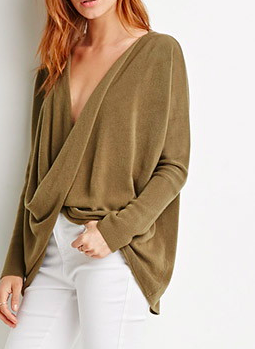 Forever 21 twist sweater