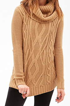 Forever 21 cowl neck sweater