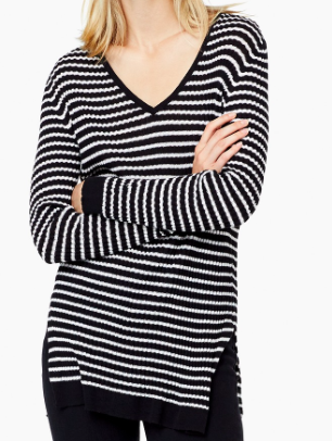 Mango striped knit sweater