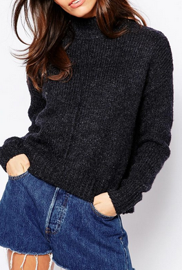 Asos high neck knit sweater