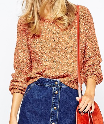 Asos cropped knit sweater