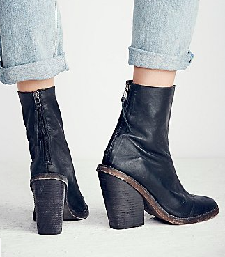 Free People midi black boots