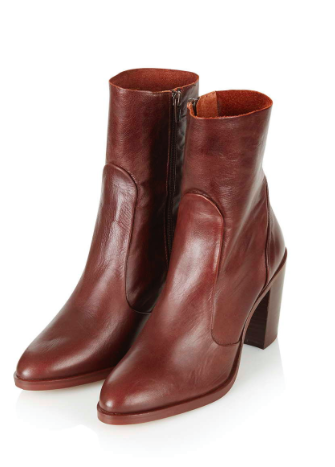 TOPSHOP MID HEELED BOOT