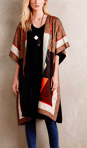 Anthropologie blanket coat
