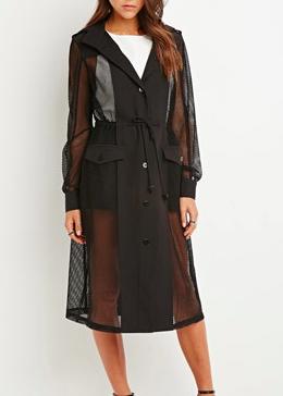 Forever 21 mesh trench coat