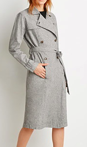 Forever 21 houndstooth trench coat