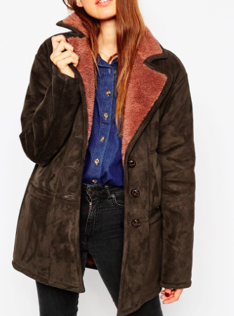 ASOS faux shearling jacket
