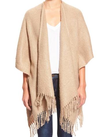 echo boucle shawl