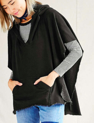 Urban Renewal hooded poncho