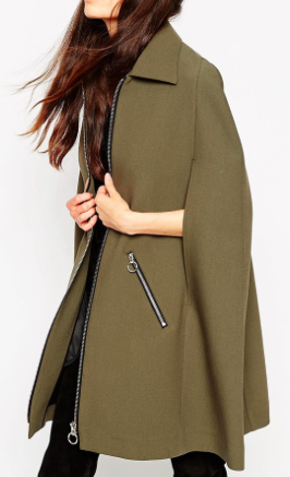 Asos cape with zippers