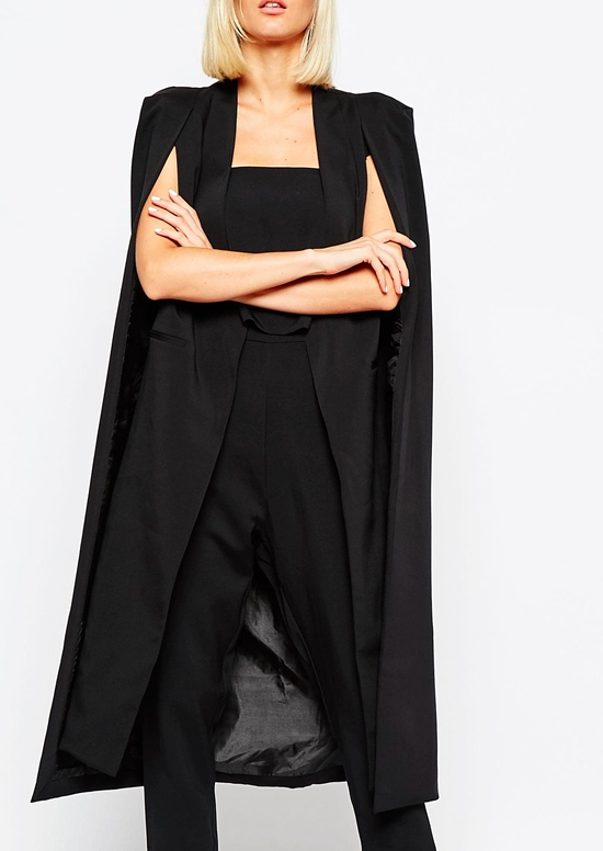 Lavish Alice long cape coat