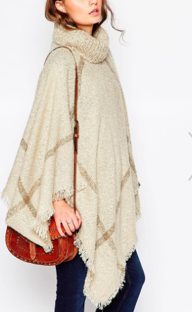 New look plaid cape