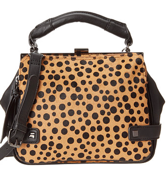 Kenneth Cole leopard mini satchel