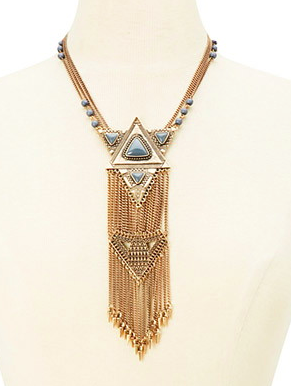 Forever 21 tribal statement necklace