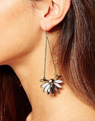 Asos flower stone earrings
