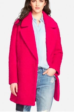 Betsey Johnson boucle coat