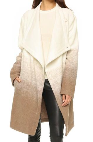 BB Dakota ombre wool coat