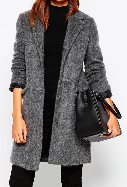 ASOS PETITE Slim Coat With Seam Detail