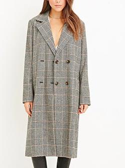 Forever 21 plaid duster coat