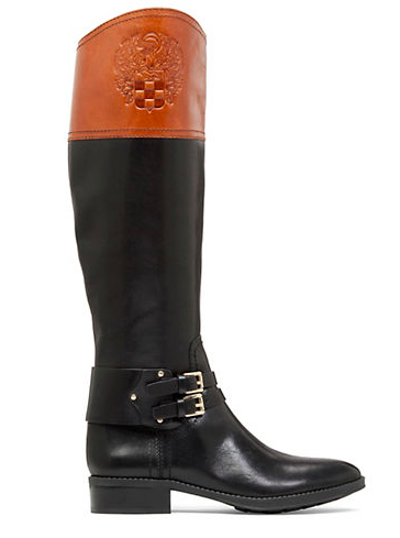 VINCE CAMUTO Pyran Two-Tone Leather Riding Boots