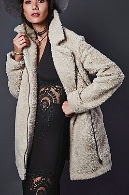Free People shearling coat