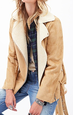 Forever 21 faux shearling jacket
