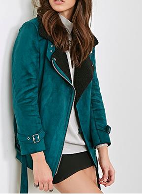 Forever 21 aviator shearling jacket