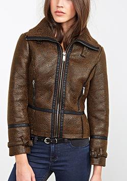 Forever 21 shearling aviator jacket