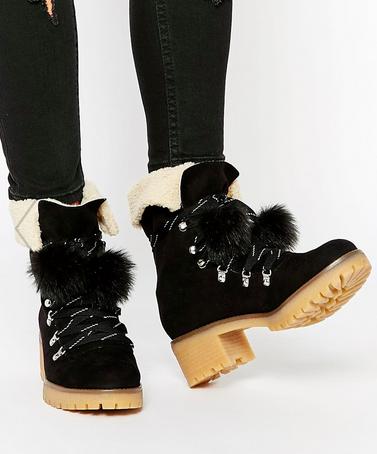 Asos shearling boots