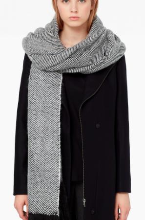 Mango herringbone scarf