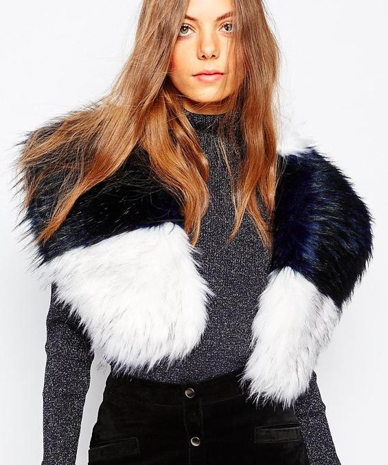 Jayley faux fur stole