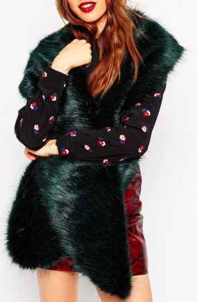 Asos oversized faux fur scarf