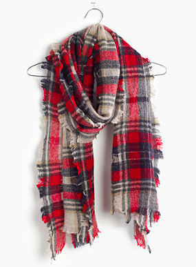 Madewell plaid scarf
