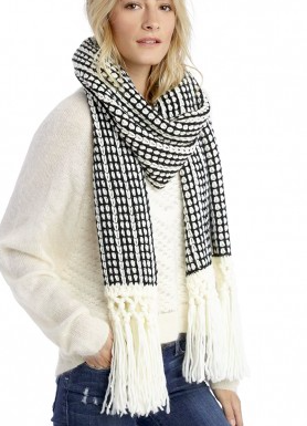 Sole Society mixed knit scarf