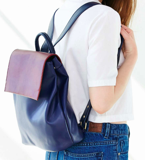 Kimchi color block small backpack
